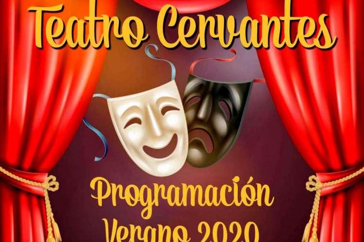 Vista parcial del cartel con la programación del teatro Cervantes de Béjar