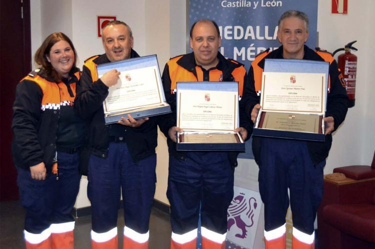 Voluntarios de Protección civil de Béjar