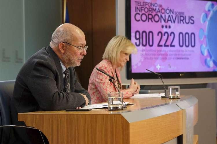 Francisco Igea y Verónica Casado durante la rueda de prensa