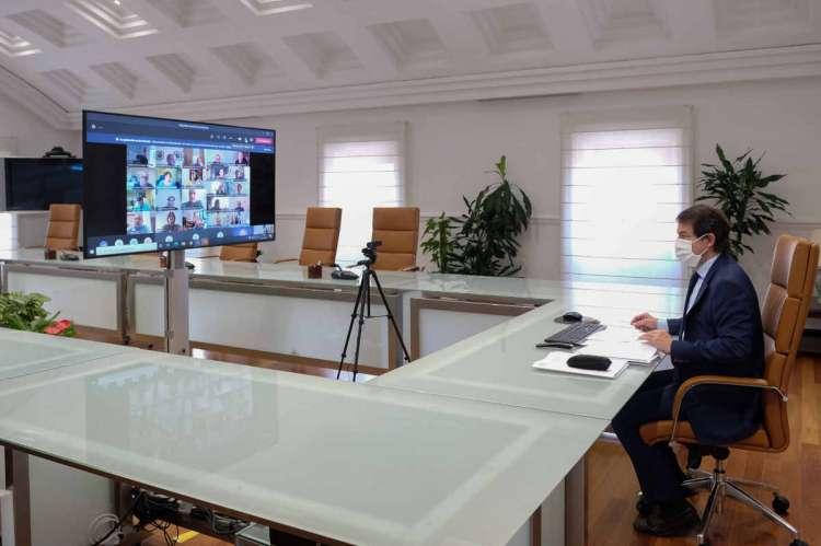 Reunión virtual Alfonso Fernández Mañueco