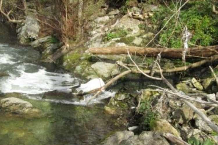 Imagen del río facilitada por el club deportivo Peña de la Cruz