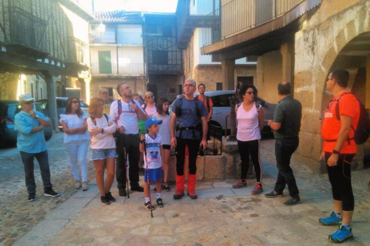 inicio de una de las actividades de Catando el territorio, imagen FB Ruta del vino sierra de Francia