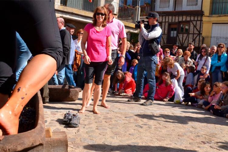 Fiesta de la vendimia en San Martín del Castañar. Archivo