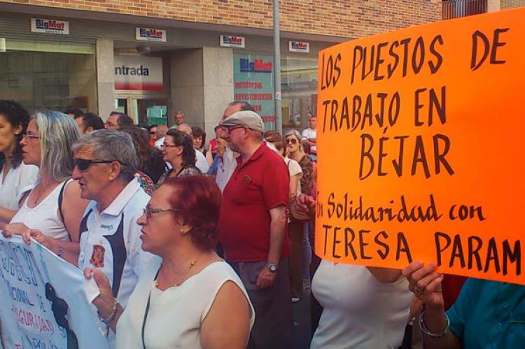 Protestas por el estado de la sanidad en Béjar