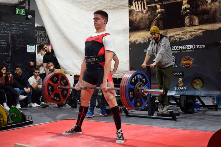 Sergio Ballestero en la Copa de España de Powerlifting