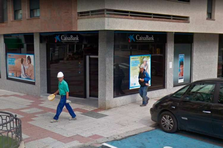 Sucursal  bancaria en la Plaza de España de Béjar