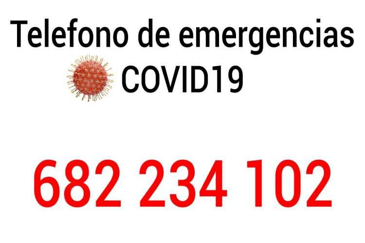 Imagen con el telefono de emergencias 682 234 102