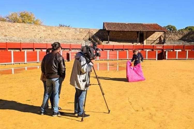 Rodaje del reportaje del programa de TV en La Ancianita