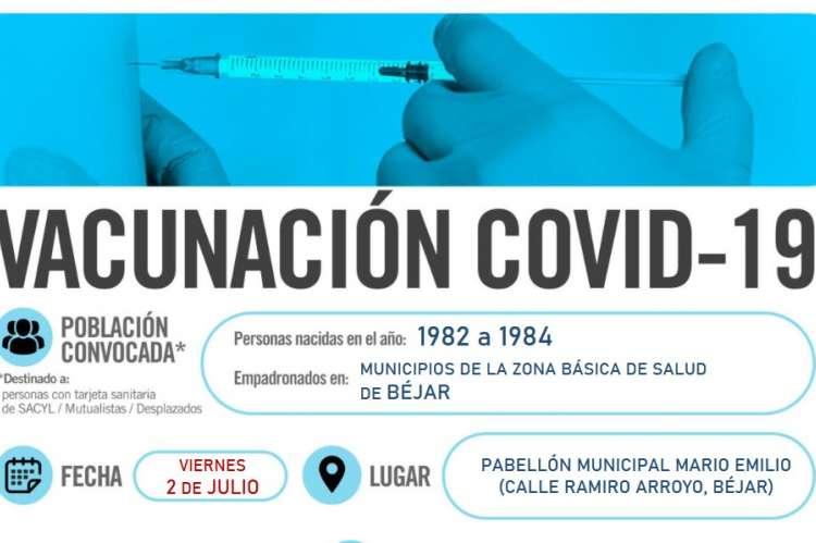 Cartel anunciador de la vacunacion del viernes