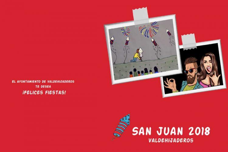 Ilustración del programa de fiestas de Valdehijaderos