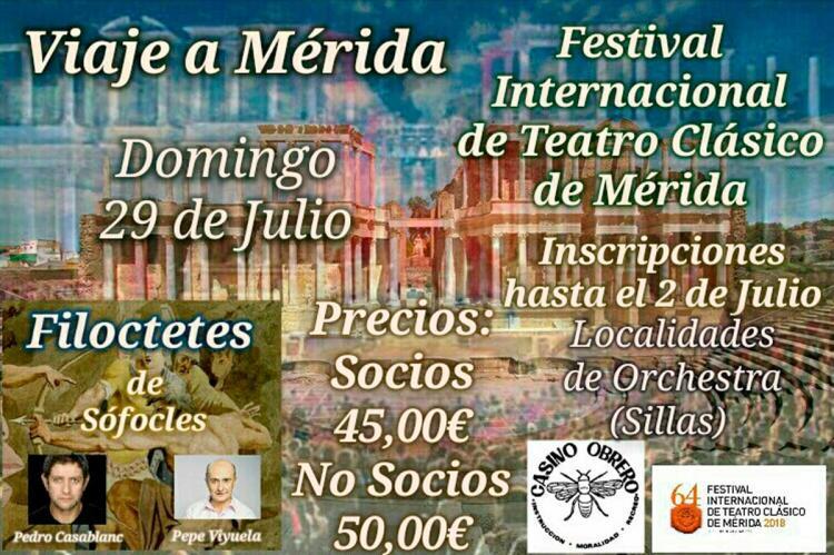 Cartel anunciador viaje a Mérida
