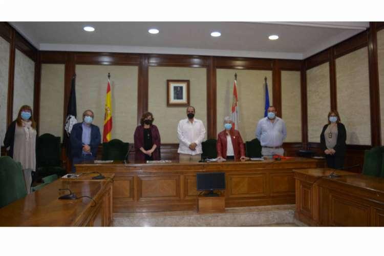 Un momento de la recepción al delegado del Polisario en Béjar
