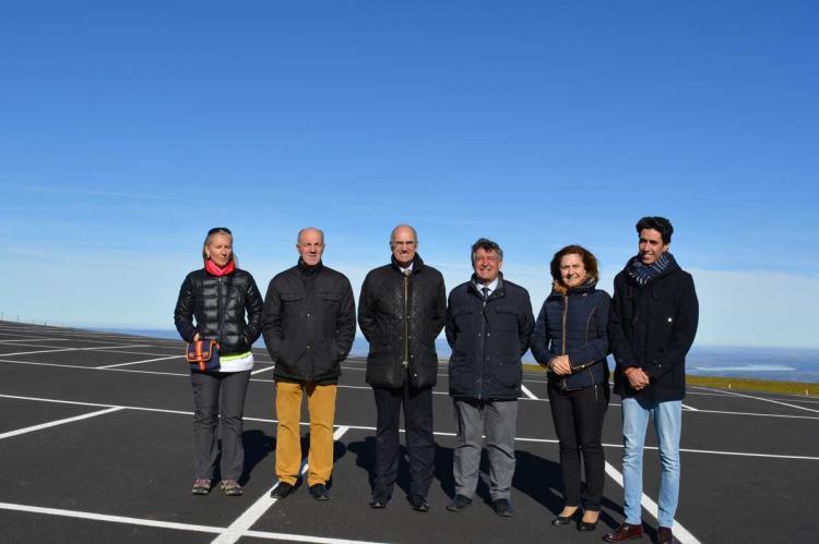 Visita del presidente de la diputación a La Covatilla