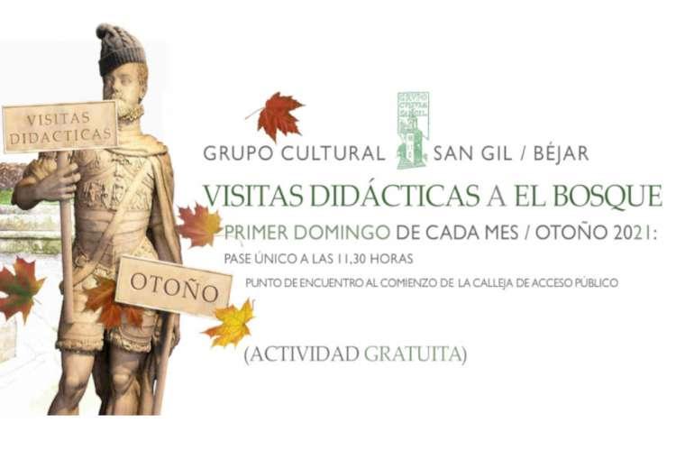 Cartel anunciador de la actividad de visita Guiada a El Bosque de Béjar
