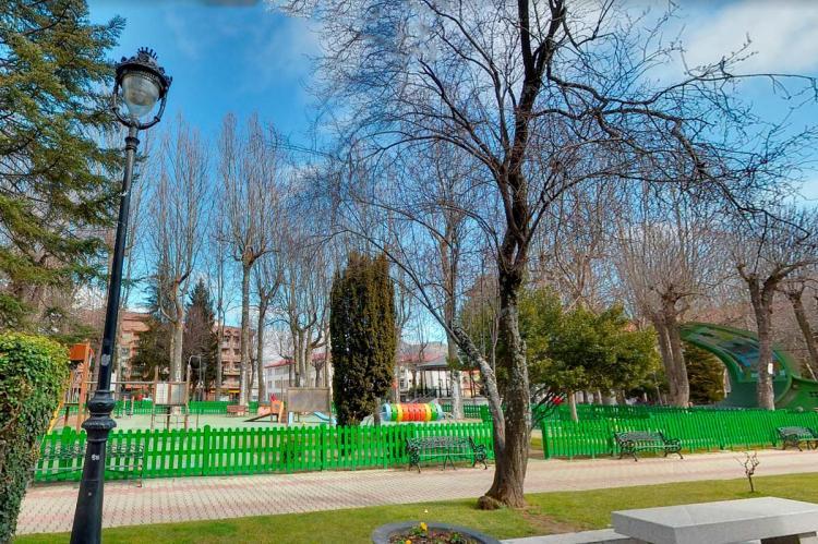 Elementos infantiles en el Parque de La Corredera