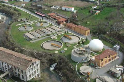 Vista aérea de la Estación Depuradora de Aguas Residuales de Béjar