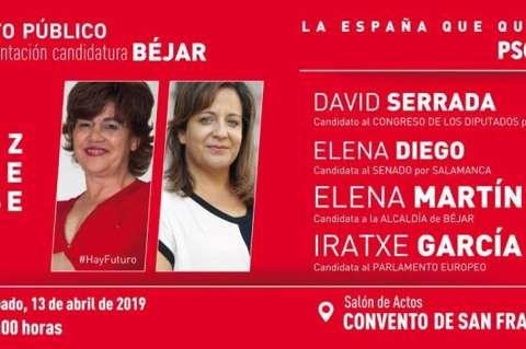 Cartel presentación candidatura socialista