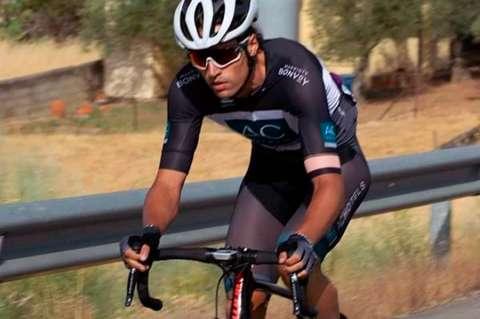 Alberto Bejarano durante una de las carreras