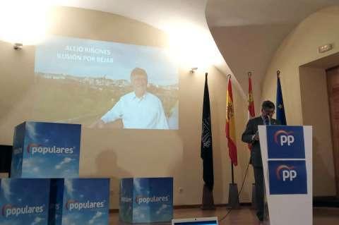 Alejo Riñones durante la presentación de su candidatura
