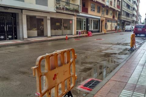 Calle Colón trabajos de asfaltado