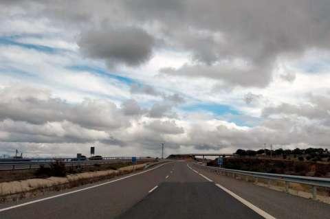 Vista de la Autovía A-66 a la altura de Guijuelo