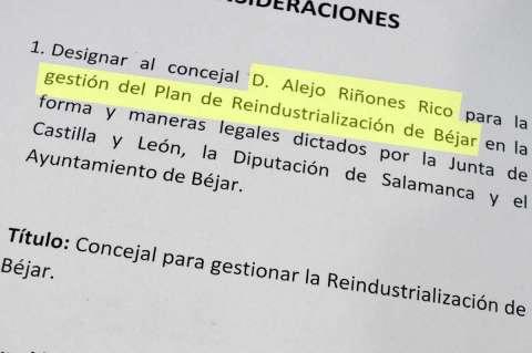 Vista parcial del documento presentado por IndusBéjar durante la reunión