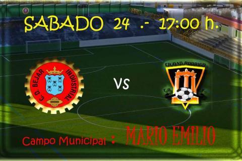 Cartel encuentro de fútbol Béjar Industrial - Ciudad Rodrigo