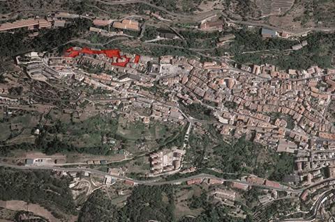 Vista satélite de la zona afectada por el proyecto