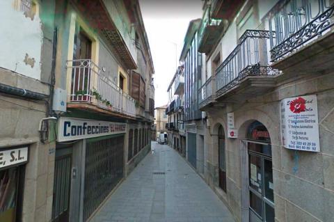 Tramo de Sánchez Ocaña de la Calle Mayor de Béjar