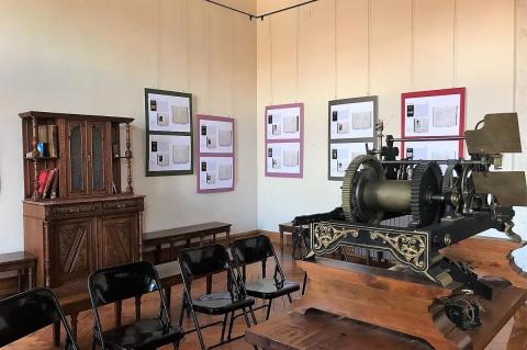 Exposición montada en el ayuntamiento de Candelario