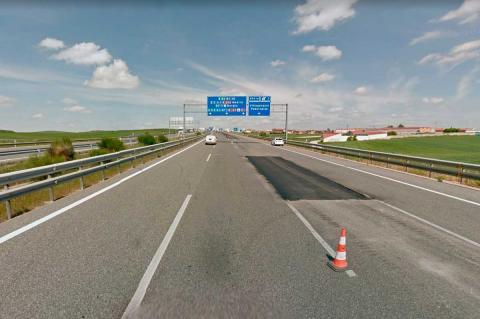 Tramo de la autovía A-62 entre Salamanca y Tordesillas