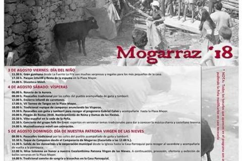 Cartel de fiestas de Mogarraz