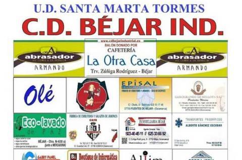 Cartel anunciador del partido