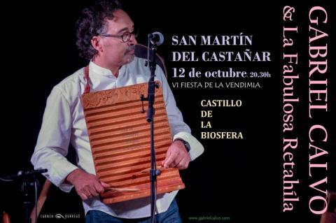Cartel anunciador de la actuación de Gabriel Calvo