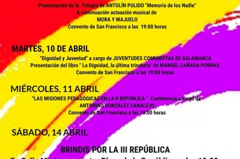 Programa cartel actos republicanos