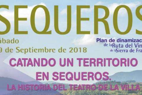 Cartel ruta del vino Sequeros