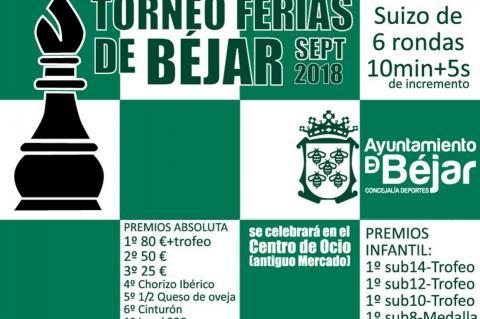 Cartel Torneo de Ferias de Ajedrez