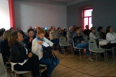 Asistentes a la conferencia sobre La Tarasca de Béjar. Casino Obrero