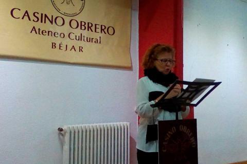 Carmen Carpio durante la presentación del acto
