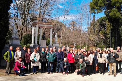 Foto del grupo de la actividad cultural del Casino Obrero en Madrid