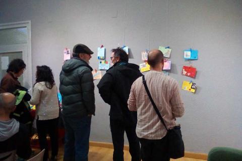 Exposición de postales del concurso Padre Igualitario en el Casino Obrero de Béjar