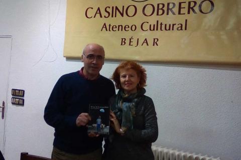 José Carlos Iglesias Dorado y Carmen Carpio durante la presentación