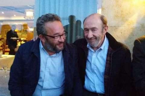 Jose Luis Rodríguez Celador junto a Alfredo Pérez Rubalcaba