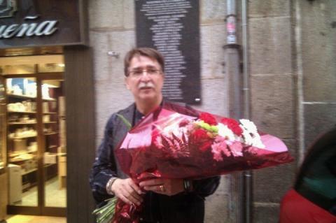 Cipriano González en una edición pasada del homenaje a los mártires de la Libertad