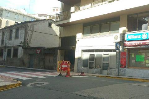 Calle Colon cortada por las obras