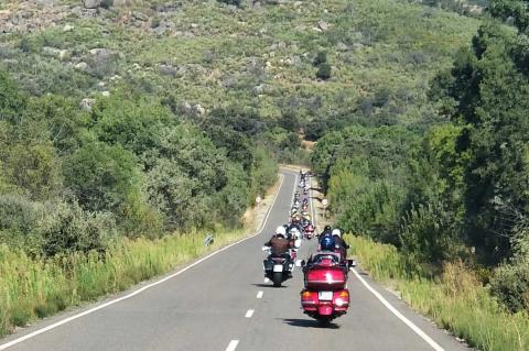 Concentración de motos Goldwing en Béjar
