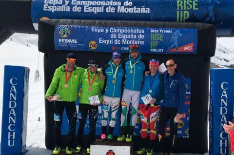 Podium de la Copa de España de Esquí de Montaña por equipos