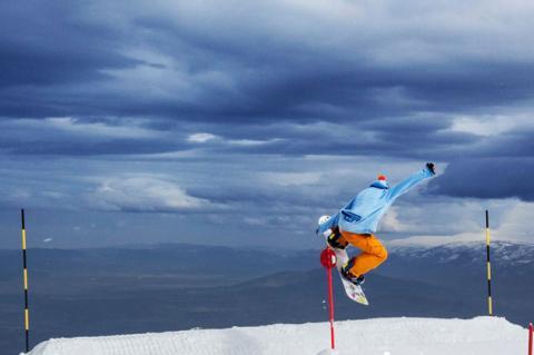 Practicando snow en La Covatilla