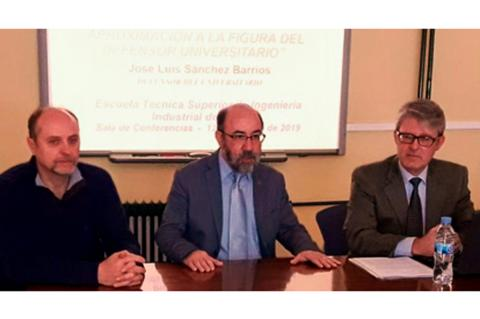 Defensor universitario junto al director de la ETSII de Béjar