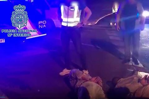 Fotograma video policial de la detención